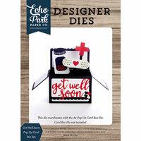 Echo Park - Designer Dies - Pop Up Card - Get Well Soon