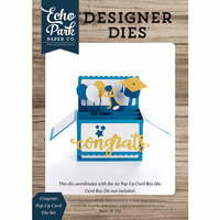 Echo Park - Designer Dies - Pop Up Card - Congrats