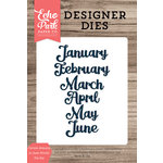 Echo Park - Designer Dies - Cursive January to June Words