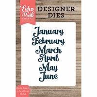 Echo Park - Designer Dies - Cursive January to June Words