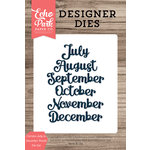 Echo Park - Designer Dies - Cursive July to December Words