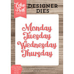 Echo Park - Designer Dies - Cursive Monday to Thursday Words