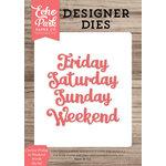 Echo Park - Designer Dies - Cursive Friday to Weekend Words