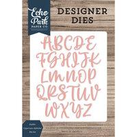 Echo Park - Designer Dies - Kaitlin Uppercase Alphabet