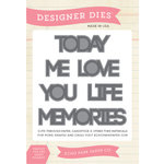 Echo Park - Everyday Collection - Designer Dies - Phrases - One