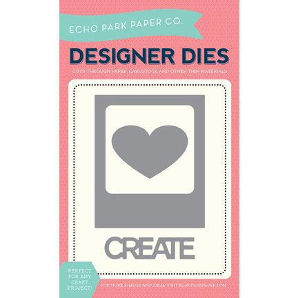Echo Park - Designer Dies - Photo Card, Heart and Create