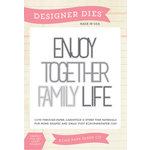 Echo Park - Sentiments - Designer Dies - Family Word