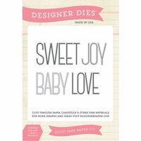 Echo Park - Sentiments - Designer Dies - Baby Word