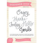 Echo Park - Sentiments - Designer Dies - Sentiments Word