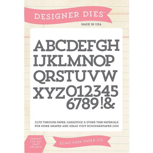 Echo Park - Designer Dies - Sentiments Block Alphabet