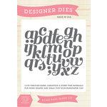 Echo Park - Sentiments - Designer Dies - Script Alphabet