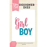 Echo Park - Designer Dies - Girl and Boy Word Set