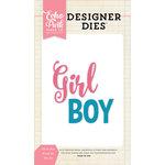 Echo Park - Designer Dies - Girl and Boy Word Set
