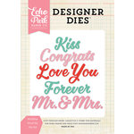 Echo Park - Designer Dies - Wedding Word Set
