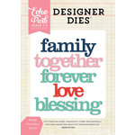 Echo Park - Designer Dies - Family Word - Set 2