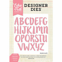 Echo Park - Designer Dies - Lindsay Uppercase Alphabet