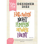 Echo Park - Halloween Collection - Designer Dies - Night Word