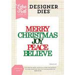 Echo Park - Christmas - Designer Dies - Christmas Joy Word