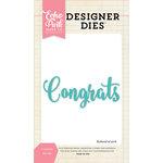 Echo Park - Designer Dies - Congrats Word