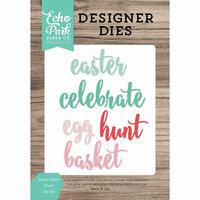 Echo Park - Celebrate Spring Collection - Designer Dies - Easter Hunt Word