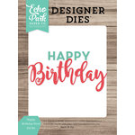 Echo Park - Celebrate Spring Collection - Designer Dies - Happy Birthday Word