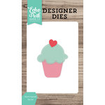 Echo Park - Celebrate Spring Collection - Designer Dies - Heart Cupcake