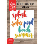Echo Park - Summer Break Collection - Designer Dies - Summer Splash Word