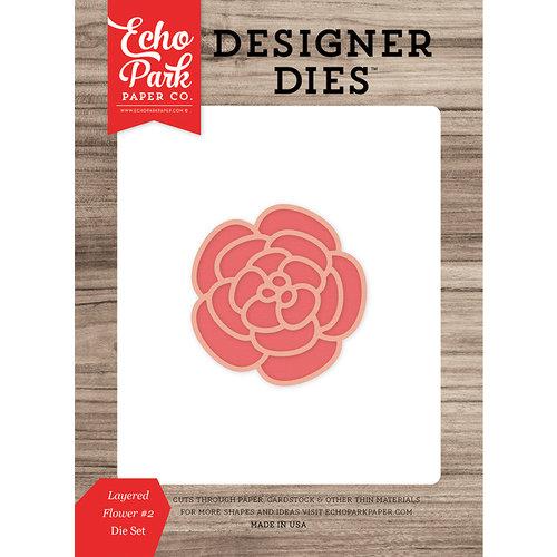 Echo Park - Summer Break Collection - Designer Dies - Layered Flower 2