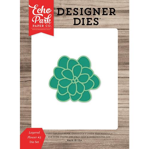 Echo Park - Summer Break Collection - Designer Dies - Layered Flower 5