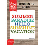 Echo Park - Summer Break Collection - Designer Dies - Summer Paradise Word