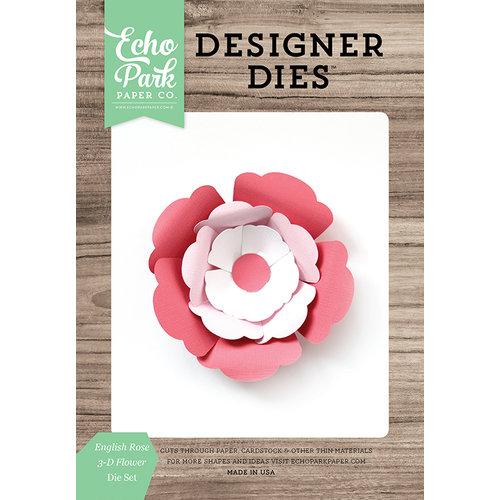 Echo Park - Party Time Collection - Designer Dies - English Rose 3D Flower