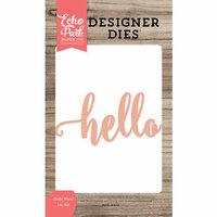 Echo Park - Designer Dies - Hello Word