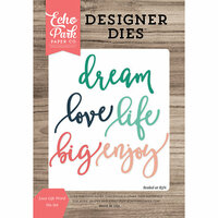 Echo Park - Designer Dies - Love Life Word