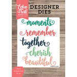 Echo Park - Designer Dies - Cherish Moments Word