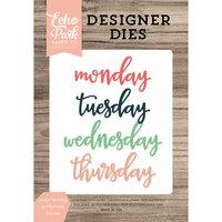 Echo Park - Daily Life Collection - Designer Dies - Script Monday to Thursday