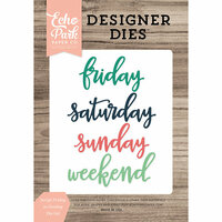 Echo Park - Daily Life Collection - Designer Dies - Script Friday to Sunday