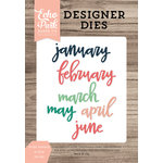 Echo Park - Daily Life Collection - Designer Dies - Script January to June