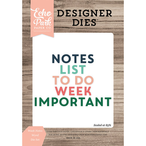 Echo Park - Daily Life Collection - Designer Dies - Week Notes Word