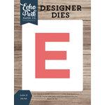 Echo Park - Designer Dies - Letter E