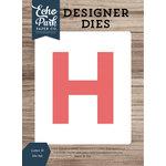 Echo Park - Designer Dies - Letter H
