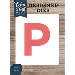 Echo Park - Designer Dies - Letter P