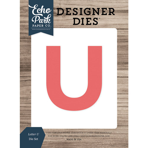 Echo Park - Designer Dies - Letter U