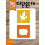 Echo Park - Harvest Season Collection - Designer Dies - 2 x 2 Layering Leaf-Pumpkin
