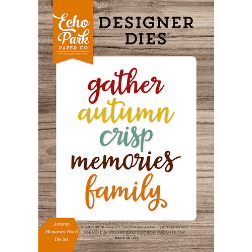 Echo Park - Harvest Season Collection - Designer Dies - Autumn Memories Word