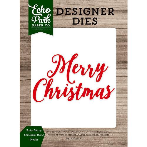Echo Park - Christmas Cheer Collection - Designer Dies - Script Merry Christmas Word