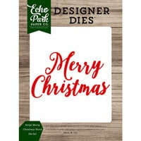 Echo Park - Christmas Cheer Collection - Designer Dies - Script Merry Christmas Word