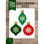 Echo Park - Christmas Cheer Collection - Designer Dies - Snowflake Ornament Trio
