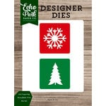 Echo Park - Christmas Cheer Collection - Designer Dies - 2 x 2 Layering Snowflake-Tree