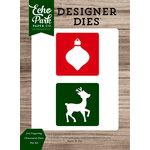 Echo Park - Christmas Cheer Collection - Designer Dies - 2 x 2 Layering Ornament-Deer