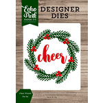 Echo Park - Christmas Cheer Collection - Designer Dies - Cheer Wreath